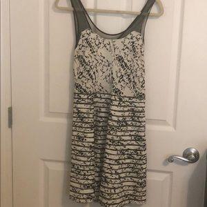 Parker Black & White Dress Medium